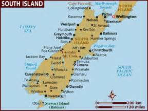 Car Hire Nz South Island Map Of South Island