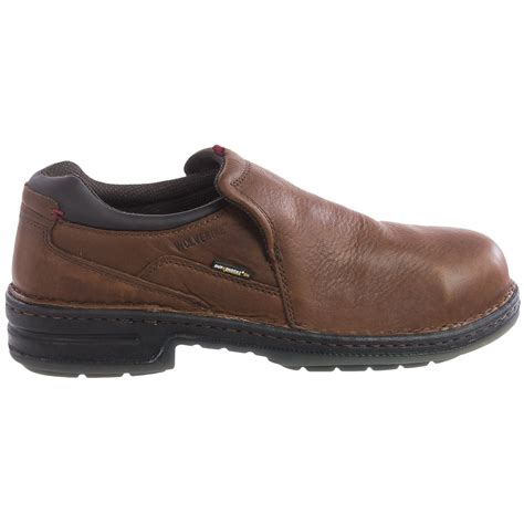 steel toed slippers wolverine marcum durashocks 174 work shoes for save 48