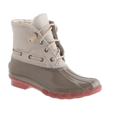 jcrew duck boots s sperry top sider 174 for j crew saltwater boots j