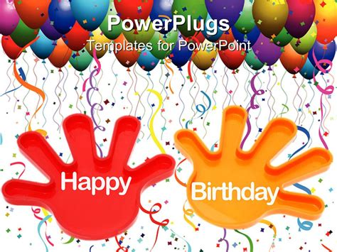 powerpoint template hands with the words happy birthday
