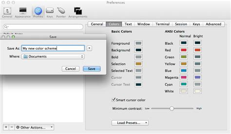 iterm2 color schemes macos how to create iterm2 color schemes user
