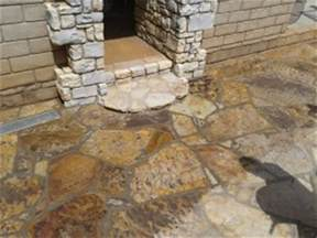 the proper way to clean seal exterior slate or flagstone