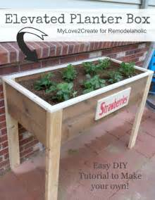 elevated planter box plans my 2 create