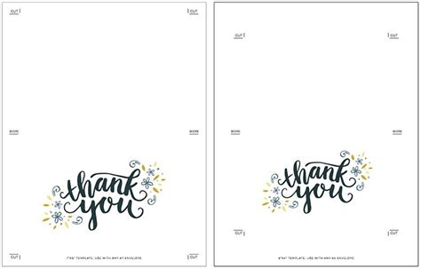 printable thank you cards foldable printable foldable thank you cards journalingsage com