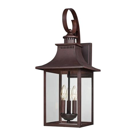 Copper Outdoor Light Shop Quoizel Chancellor 23 5 In H Copper Bronze Outdoor Wall Light At Lowes