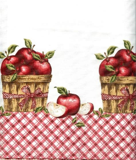 apple kitchen curtains anns home decor and more apple picking 36l tier valance