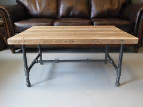 Pipe Leg Coffee Table Reclaimed Wood Coffee Table With Industrial Pipe Legs By Dendroco