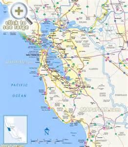 bay map california san francisco penisula surrounding bay area northern