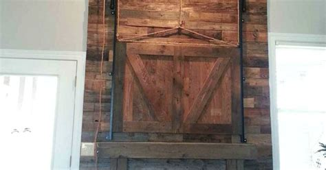 reclaimed barnwood fireplace barn door wood