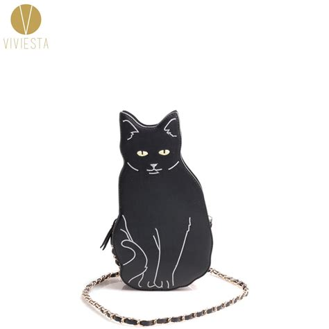 Animal Black Cat For Handphone Promo 1 black cat novelty crossbody chain bag s 2017 animal kitten cool