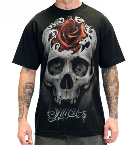rose tattoo shirt sullen mens quot quot skull with tshirt