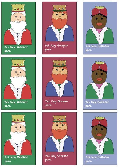 fotos reyes magos melchor gaspar y baltasar etiquetas para los regalos de los reyes magos