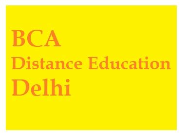 Correspondence Mba From Delhi 2017 by Bca Distance Education Course In Delhi Bca And