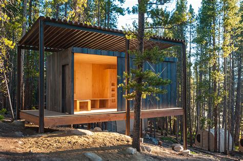 14 prefab micro cabins in colorado woods showcase student