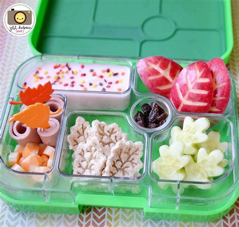 Bento Box Decorations by Another And Healthy Autumn Themed Bento Box From Meet The Dubiens Yumbox Lunch Ideas