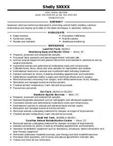 Kennel Technician Sle Resume by Kennel Technician Resume Exle Kirby Animal Hospital San Antonio