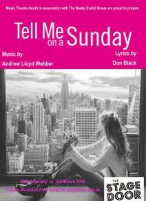 tell me on a sunday wikipedia southton s cabaret theatre bar bistro the stage