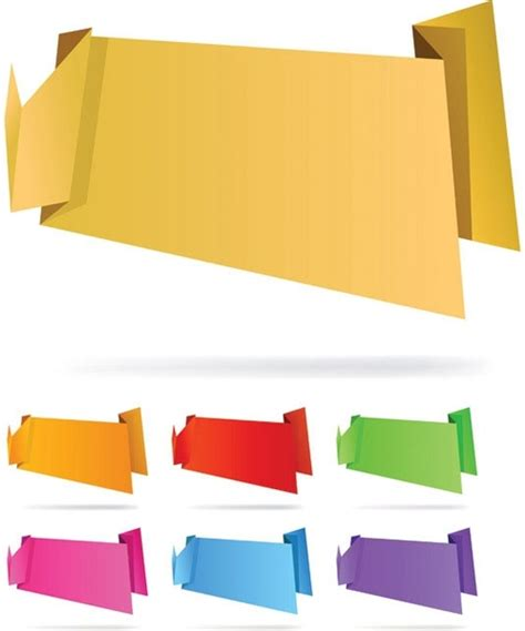 Origami Graphic - origami decorative graphics vector 5 free vector in