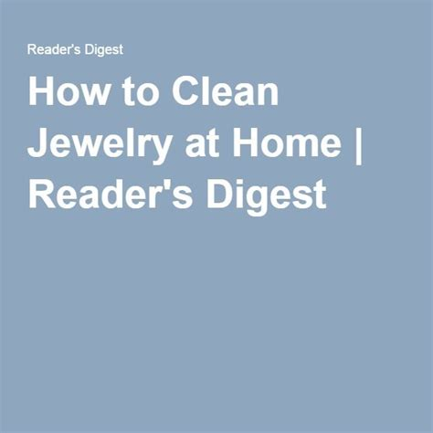34 best images about jewelry cleaning at home on