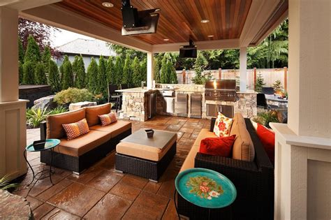 covered outdoor kitchen covered outdoor kitchen design
