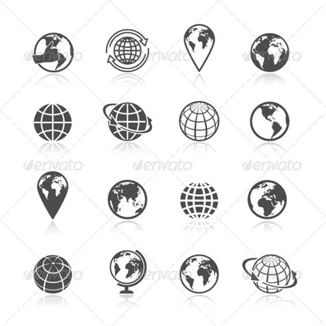 globe icons icons logos and tattoo planet earth globe vector 187 dondrup com