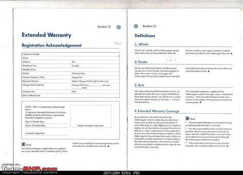 volkswagen lists extended warranty plans team bhp