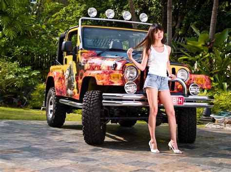 jeep girls jeep girls muscle car