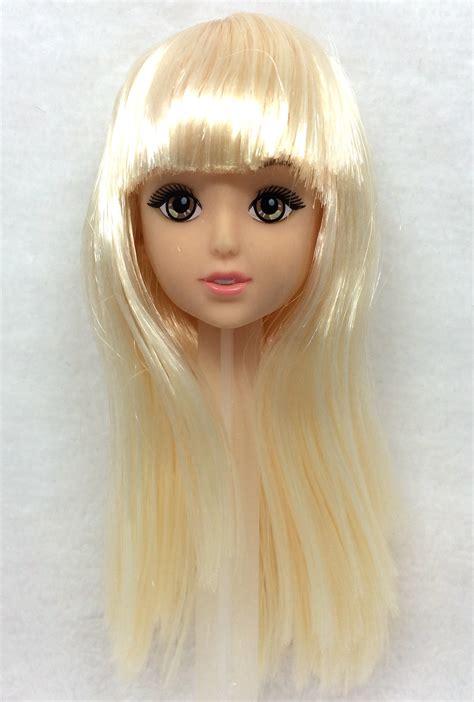 fashion doll heads nk one pcs fashion doll golden hair diy accessories