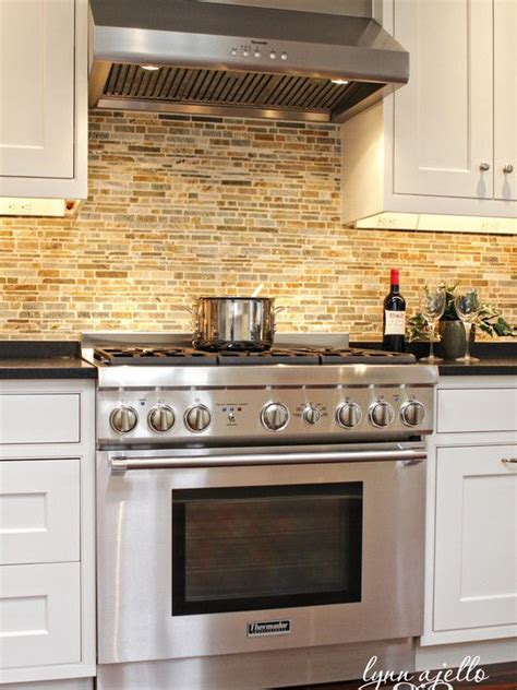 brick backsplash this look for the home