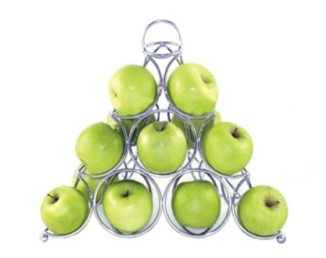 Is Rack Of Healthy by Review Healthy Pic Chrome Pyramid Fruit Rack From Design