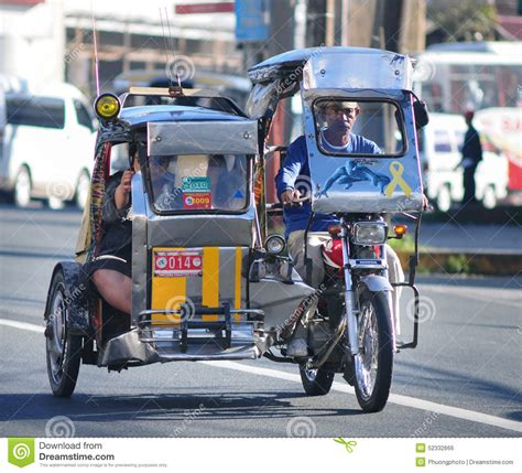 philippine tricycle tricycle on the street boracay philippines editorial