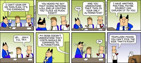 Mba Opportunity Cost by Thinking On The Margin Dilbert On Opportunity Cost