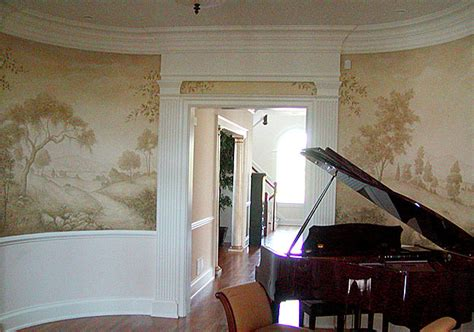 Dining Room Murals Mural Stencils Mural For Dining Room Grisaille Murals Cutting Edge Stencils