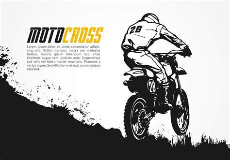 online motocross ilustra 231 227 o vetorial gr 225 tis para motocross download
