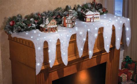 lighted blanket table runner lighted icicle mantel scarf 187 petagadget