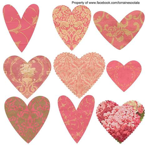 imagenes otoño halloween free valentine hearts for craft or papercraft use from