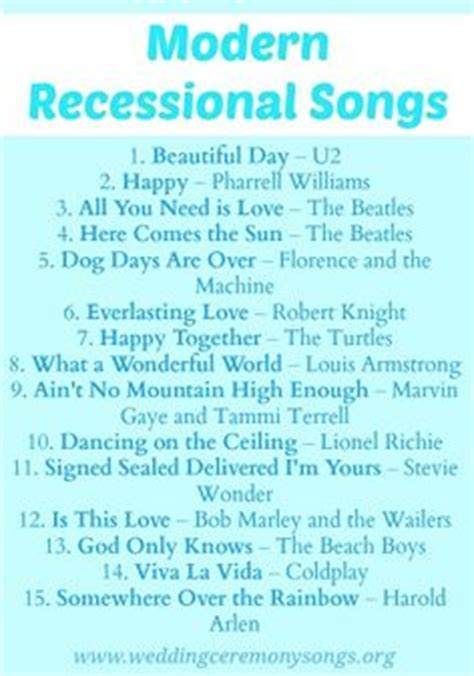 Wedding Recessional Songs on Pinterest   Wedding Songs