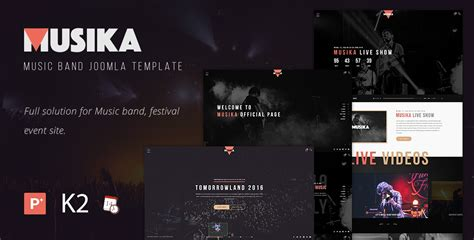 joomla best templates best joomla templates for festival band