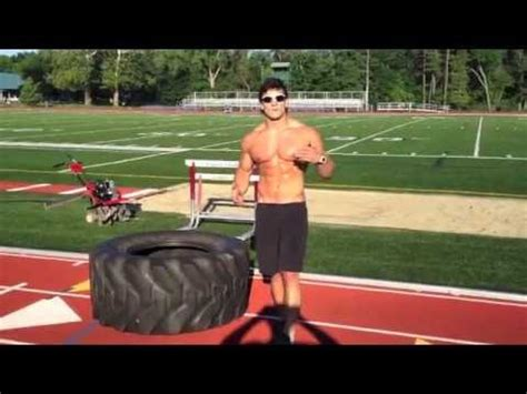 outdoor tire workout  build athletic lean muscle