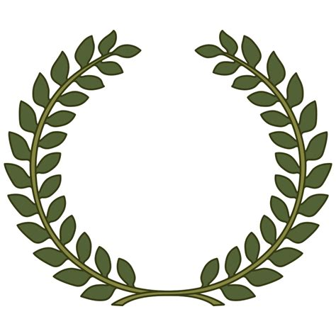 laurel leaf crown template laurel wreath clip clipart best