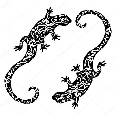 abstrait figur 233 224 motifs l 233 zards croquis de tatouage