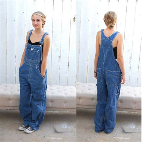 Vintage 90's Calvin Klein Womens Overalls Denim Long Pants