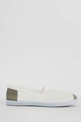 Perforated Slip Ons perforated slip ons white or green just 163 5