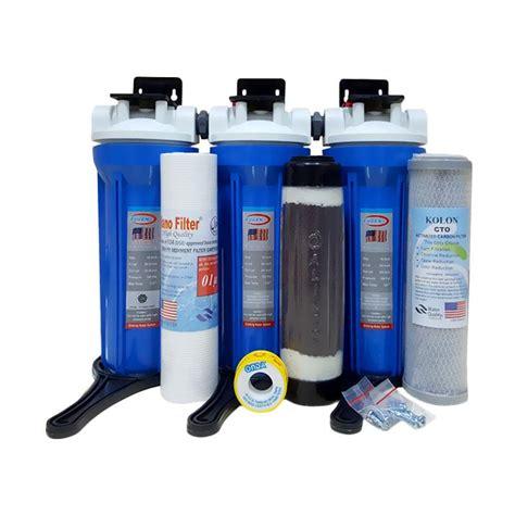Stok Terbatas Paket Filter Air 3 Tahap Sedimen Gac Cto Clear 1 jual eugen housing set filter air 3 pcs harga kualitas terjamin blibli