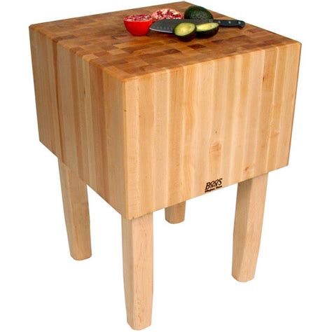boos aa butcher block work table with 16 thick