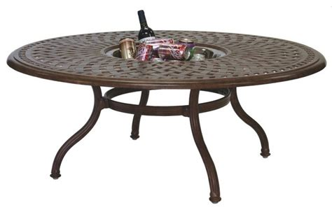 60 Patio Table Darlee Series 60 Cast Aluminum Tea Patio Table With