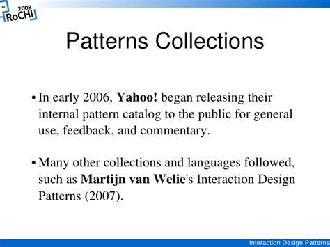 interaction pattern ne demek interaction design patterns