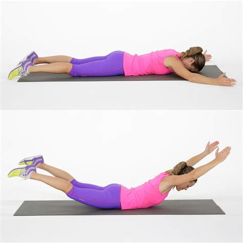 how to do the superman exercise popsugar fitness