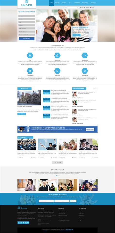 free css templates for university website 22 best university website templates psd free download