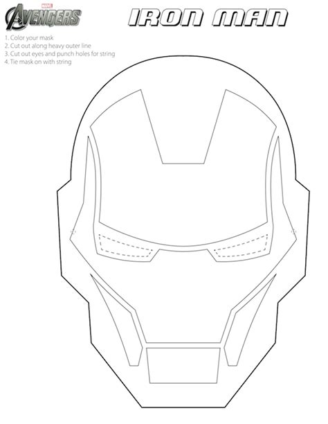 free printable halloween masks for kids iron man mask to